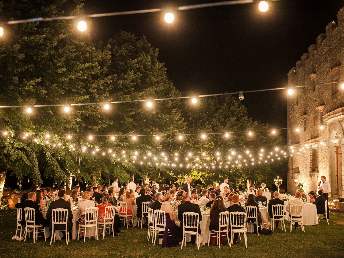 Italy Wedding Outdoor Reception Decorations Romantic