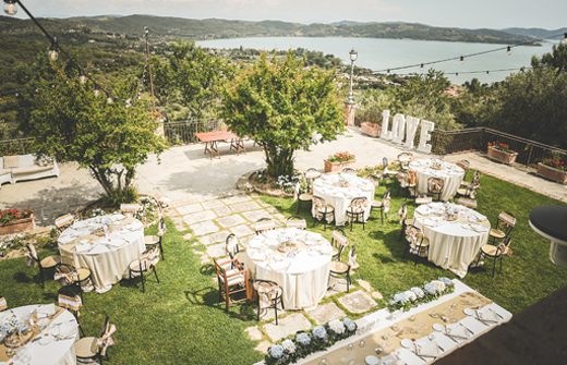 A romantic setting for a weeding overlooking Trasimeno Lake